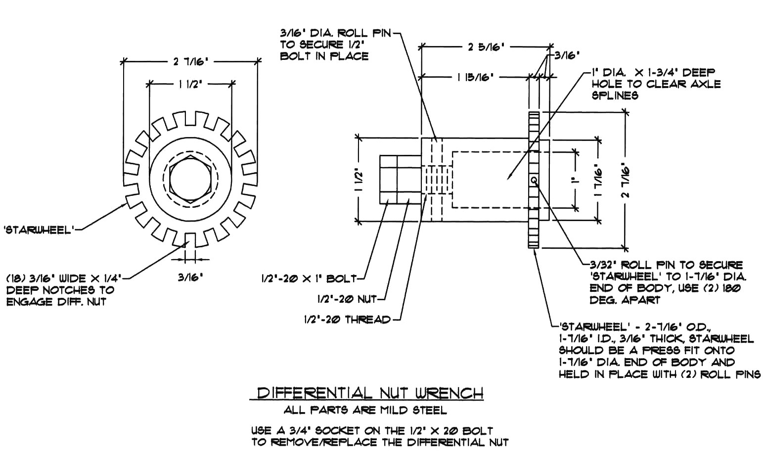lotus europa master documentation menu differential nut wrench drawing
